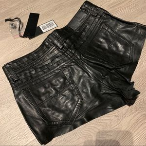 Diesel Shorts - Brand New Diesel Leather Shorts Size 25